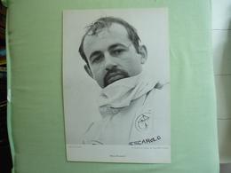 HENRI PESCAROLO  -  29 X 20 Cm Portrait Par Seufert - Années '60 -  MATRA - Car Racing - F1
