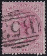 Mauritius    .   Yvert    25       .        O      .   Gebruikt    .     /    .     Cancelled - Mauritius (...-1967)