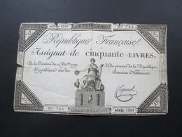 Frankreich Assignat De Cinquante Livres 14. Dec. 1792. No 762 Serie 1391. - ...-1889 Francs Im 19. Jh.
