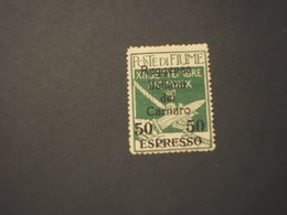 FIUME - POSTA MILITARE - ESPRESSI 1920 LEGIONARI 50 Su 5 - NUOVO+) - Bezetting 1° Wereldoorlog