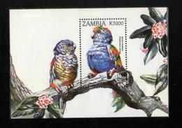 OISEAUX  ZAMBIE    NEUF Sans Charnière  Bloc Feuillet   N° ? ?     Mulda Parakeet - Collections, Lots & Series