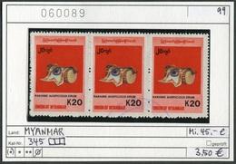 Myanmar (Burma/Birma) - Michel 315 Im 3erStreifen - Oo Oblit. Used Gebruikt - Myanmar (Burma 1948-...)