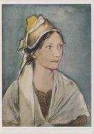 Künstlerkarte AK Elisabeth Gener Mädchen Aus Nordmähren Mähren Tracht Tetztal No 6 Sudetendeutsches Hilfswerk Sudeten - Künstlerkarten