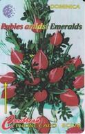 TARJETA DE DOMINICA DE $20 DE RUBIES AMIDST EMERALDS - Dominica