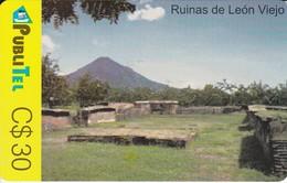 TARJETA DE NICARAGUA DE PUBLITEL DE LAS RUINAS DE LEON VIEJO - Nicaragua