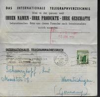 MAROC Telegramme  1956 Tanger Fés - Monumentos