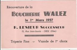 Buvard Boucherie Walez Lesieur 15 Rue Jean Jaurès Creil 60 Oise - Food