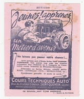 Buvard Cours Techniques Auto Rue Du Docteur Cordier Saint St Quentin Aisne 02 - Automobile