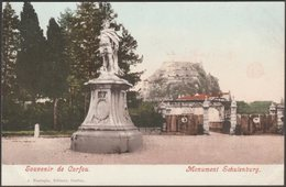 Monument Schulenburg, Corfou, C.1905 - Farrugia U/B CPA - Greece