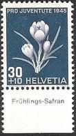 "Schweiz Suisse Svizzera: Pro Juventute 1945 Zu 116 Mi 468 Yv 426 ** MNH & Tab ""Frühlings-Safran"" (CHF 11.00) - Other"
