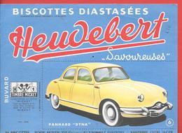 Buvard Ancien Biscottes HEUDEBERT -PANHARD DYNA N° 6 -  TIMBRE MICKEY - Sté ALIMENT ESSENTIEL à NANTERRE, LYON, ALGER - Biscottes