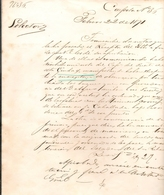1871 YELLOW FEVER EPIDEMIC Reported In January - February 1871 QUARANTINE ORDER From URUGUAY OF SHIPS FROM BUENOS AIRES - Documentos Históricos