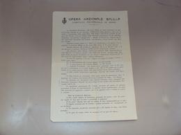 FRIULI VOLANTINO DELL'OPERA NAZIONALE BALILLA COLONIA ALPINA DA UDINE - Vecchi Documenti