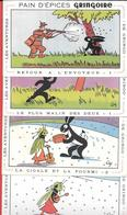 8 Buvards Anciens PAIN D'EPICES GRINGOIRE (7 Différents)  Illustrés Par COQ - LES AVENTURES DE GRINGO - Pain D'épices