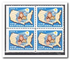Amerika 1958, Postfris MNH, VFW National Home ( Under And Left Imperf. ) - Machine Stamps (ATM)