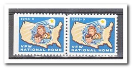 Amerika 1958, Postfris MNH, VFW National Home ( Left Imperf. ) - Machine Stamps (ATM)