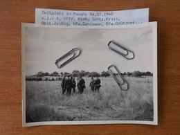 WW2 GUERRE 39 45 NIEVRE POUGNY COSNES COURS SUR LOIRE SOLDATS ALLEMANDS ARRIVANT A POUGNY 04.07.1940 - 1939-45