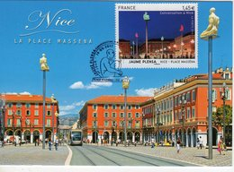 Carte-Maximum FRANCE N° Yvert 4683 (Jaume PLENSA - Place MASSENA) Obl Sp Ill 1er Jour - Cartoline Maximum