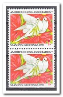 Amerika 1990, Postfris MNH, American Lung Association ( Under Imperf. ) - Machine Stamps (ATM)
