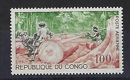 "Congo Aerien YT 18 (PA) "" Abattage Du Bois "" 1964 Neuf* - Congo - Brazzaville"