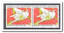 Amerika 1990, Postfris MNH, American Lung Association ( Left Imperf. ) - Machine Stamps (ATM)
