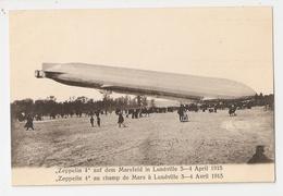 54 Lunéville, Lot De 5 Cartes Inédites. Champ De Mars, 3 - 4 Avril 1913.  Zeppelin 4 (3171) (2) - Luneville