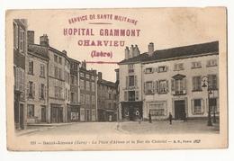 """38 Isère. Charvieu. Hopital Grammont. Cachet """"Service De Santé Militaire"""" Sur Carte Saint Amour (Jura)  (3173) - Postmark Collection (Covers)"""