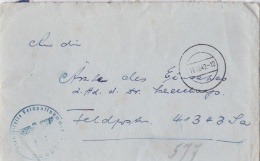 German Feld Post WW2 Posted To A Widow Via A Dr. In Normandy, Organisation Todt Oberbauleitung Normandie, FP 41343 From - Militaria