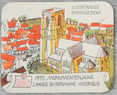 Sous-bock STELLA ARTOIS Lissewege Dorpsgezicht 1975 Année Du Patrimoine Bierviltje Coaster (CX) - Bierdeckel