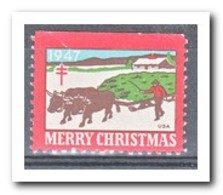 Amerika 1947, Postfris MNH, Christmas ( Above Imperf. ) - Machine Stamps (ATM)