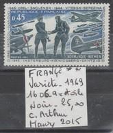 TIMBRE DE FRANBCE NEUF ** LUXE Nt 1606 A = ETOILE NOIR  COTE 25 € - Curiosités: 1960-69 Neufs