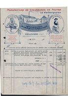 FACTURE ETS CHARBRIER BIRON ET LECHAPPE - VIEILLEVIGNE - MANUFACTURE DE CHAUSSURES DE FEUTRE - 1900 – 1949