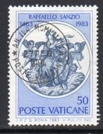 Vatican City 1983 500th Anniversary Of Raphael, Painter 50l. Value, Used, SG 798 (A) - Used Stamps