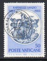 Vatican City 1983 500th Anniversary Of Raphael, Painter 50l. Value, Used, SG 798 (A) - Vaticano (Ciudad Del)