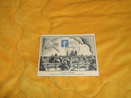 CARTE POSTALE COMMEMORATIVE DE 1943. / LA POSTE AERIENNE GRAVURE SUR BOIS DE S. DUPLESSIS. D'APRES RENE COTTET. CACHET + - Cartes-Maximum
