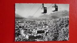1139 - GRENOBLE Téléférique De La Bastille. Croisement Des Deux Bennes - Grenoble