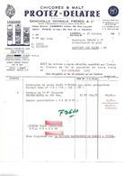 Facture 1965 /  NORD / CAMBRAI / PROTEZ-DELATRE / Chicorée & Malt / Sancholle Henraux Frères - France