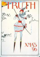 D'après Illustration  -NUGERON   S 15  Sports 1900  TRUTH  XMA'S' 96 (ski) *PRIX FIXE - Publicité