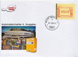 Austria 2 FDCs With Machine Stamps - Vignettes ATM - Frama