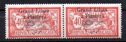 Col9  Grand Liban  Variete  :  N° 10 , Texte Arabe Mal Imprimé  Neuf XX MNH  , Cote :    30,00 Euro - Great Lebanon (1924-1945)
