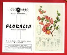 """CALENDRIER 1994. MAGASIN DE FLEURS """" FLORALIA """" RUE DES GIRONDINS VILLENEUVE-SUR-LOT COGNASSIER DU JAPON - Réf. N°9801 - - Calendars"""