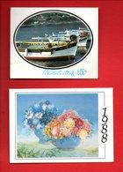 """2 CALENDRIERS 1986 & 1988 . """" FLORALIA """" 58, RUE DES GIRONDINS . VILLENEUVE-SUR-LOT - Réf. N°9802 - - Calendriers"""