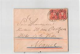10097 01  BILLIGHEIM I. BADEN TO NAPOLI - 1889 - Germania