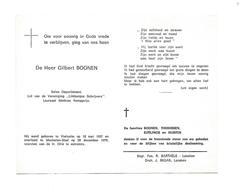 "D 213.GILBERT BOONEN - Laureaat Mathias Kempprijs/ Lid ""Limburgse Schrijvers""- °VIELSALM 1937/+MECHELEN-STAD 1979 - Images Religieuses"