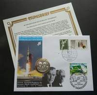 Germany - Austria Joint Issue 20th Anniversary Of Moon Landing 1989 FDC (joint Coin Cover) *dual Cancellation - Covers & Documents