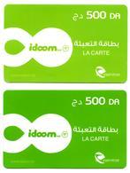 2 CARTES RECHARGE INTERNET RECHARGE Used CARD Karten Aufladen RECARGA TARJETA  Color Variety - Algérie