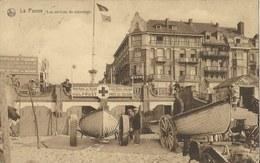 La Panne    Les Services De Sauvetage   -   HULPPOST!   Ter Hoogte Aan Het  HOTEL TERLINCK  -  1929  Naar   Verrebroeck - De Panne