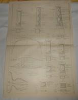 Plan Du Viaduc De Saint Jean La Rivière. Chemin De Fer électrique De La Vallée De La Vésubie. 1910. - Public Works