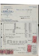 FACTURE ETS ORITA - VILLEFRANCHE - MANUFACTURE CRAVATES - 1900 – 1949
