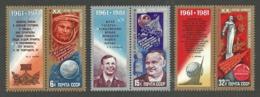 RUSSIA 1981 SPACE 2OTH ANNIVERSARY MANNED FLIGHT YURI GAGARIN SET MNH - 1923-1991 USSR